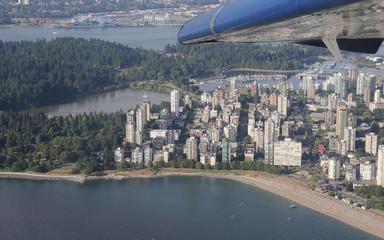 Vancouver vanuit het watervliegtuig