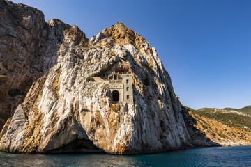 Porto Flavia, is a mine gallery designed by Engineer Cesare Vecelli in 1924, Masua, Sardinia; Italy