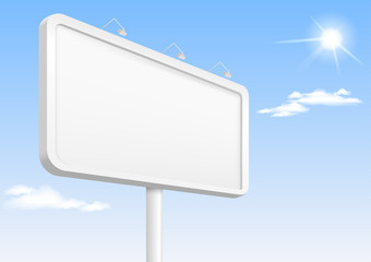 Template city banner or billboard with illumination for advertising. Vector graphics.