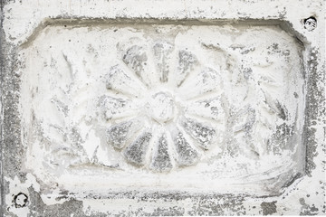 Beautiful vintage antique gray-white cement tile