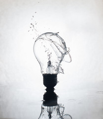 Light bulb water splash