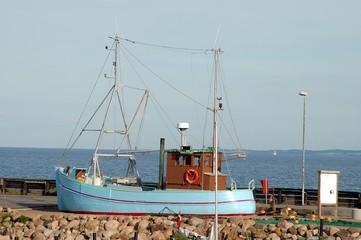 gestrandetes schiff auf samsö