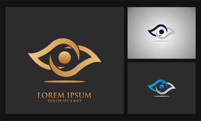 eye abstract logo