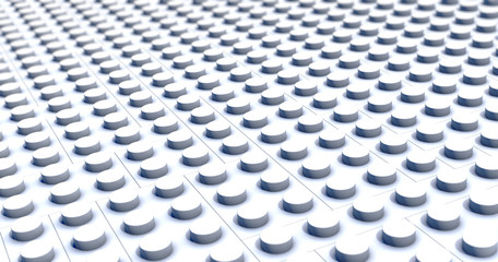 system of monochrome plastic building blocks