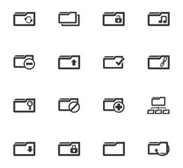 Folder icons set