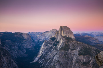 Half Dome at sunset, Yosemite National Park, California, USA Wall mural