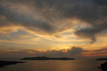 Sunset Fira, Santorini, Greece