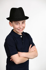 boy in fedora