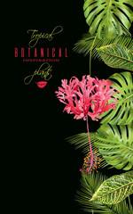 Tropical flower vertical banner