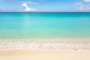 Aluminium Prints Beach Calm tropical beach with turquoise water