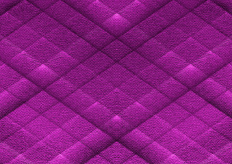 Purple quilted fabric texture background