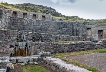 Poster South America Country Tambomachay Inca Ruins with water spring - Cusco, Peru
