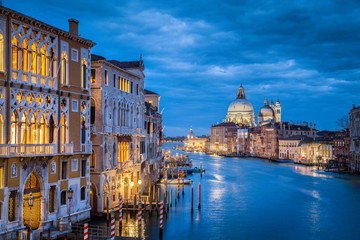 Canal Grande in mystic twilight, Venice, Italy