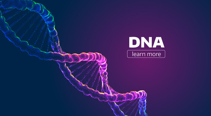 Abstract vector DNA structure. Medical science background