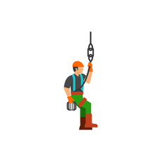 Adjuster at work vector icon