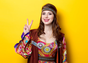 Portrait of Young hippie girl