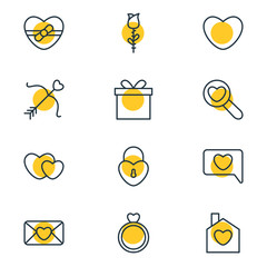 Vector Illustration Of 12 Amour Icons. Editable Pack Of Magnifier, Home, Messenger And Other Elements.