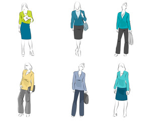 Six mannequin with casual outfit