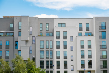 Modern apartment building facade , new apartment buildings exterior Fototapete