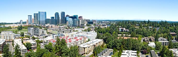 Bellevue Washington Skyline Panoramic Urban City Landscape