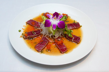 raw meat on plate