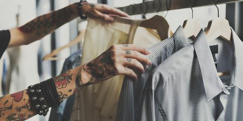 Clothes Hanger Rack Costume Outfit Closet Concept