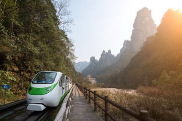 Train at Zhangjiajie National Park