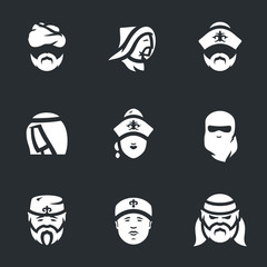 Vector Set of Nomads Icons.