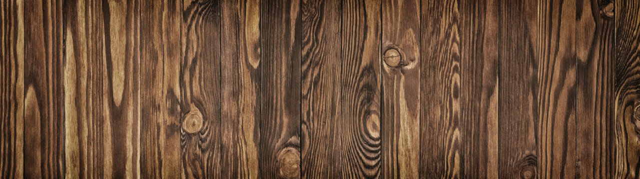 Brown wood texture, background of wooden plank