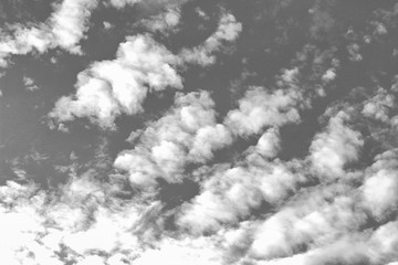 Clouds - black and white