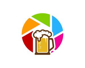Photo Beer Icon Logo Design Element