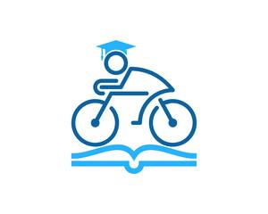 Education Bike Icon Logo Design Element
