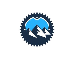 Mountain Bike Badge Icon Logo Design Element