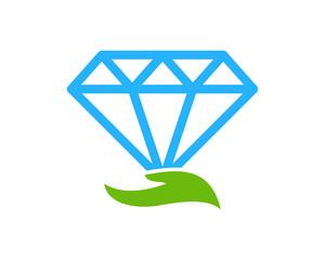 Diamond Care Icon Logo Design Element
