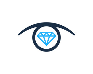 Diamond Eye Icon Logo Design Element