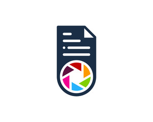 Camera File Document Icon Logo Design Element