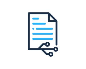 File Document Tech Icon Logo Design Element