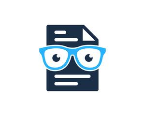 File Document Geek Icon Logo Design Element