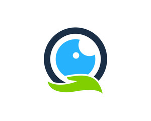 Eye Care Icon Logo Design Element