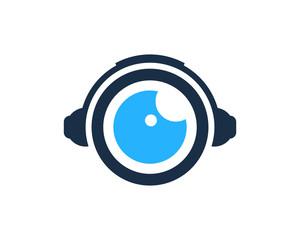 Music Eye Icon Logo Design Element