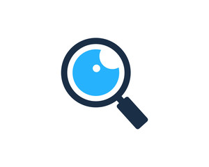 Search Eye Icon Logo Design Element