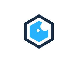 Hexa Eye Icon Logo Design Element