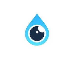 Water Eye Icon Logo Design Element