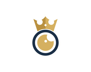 King Eye Icon Logo Design Element