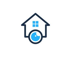 Eye House Icon Logo Design Element