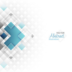 Abstract vector futuristic background with square shapes.