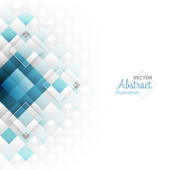 Abstract geometric futuristic background with square shapes.