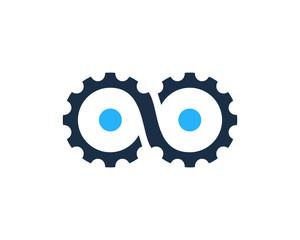 Gear Infinity Icon Logo Design Element