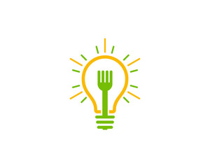 Food Idea Icon Logo Design Element