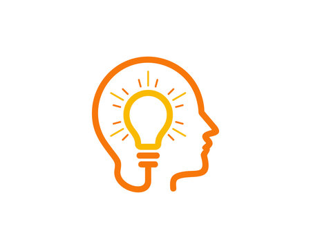 Brain Idea Icon Logo Design Element
